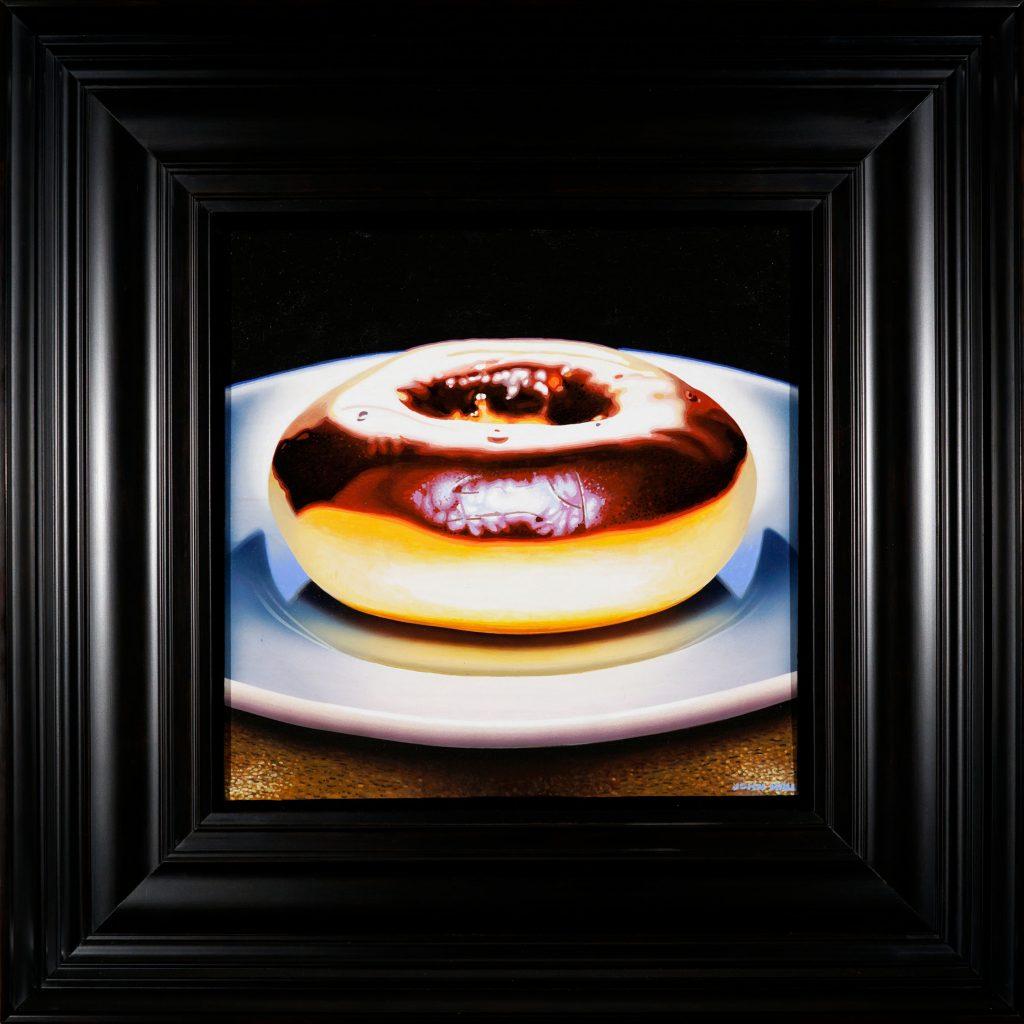 """John Hall, RCA, Jared's Donut, 2017, Acrylic on Canvas, 12"""" x 12"""""""